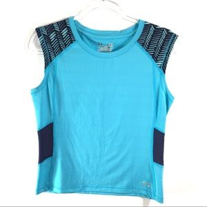 Under Armour Blue Fitted Sleeveless Top 👑